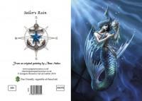 Fantasy Greeting Card Mermaid - Sailor's Ruin