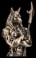 Anubis Figur als Krieger - bronziert