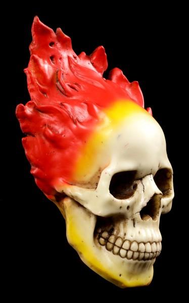 Totenkopf Wandrelief - Flammenschädel
