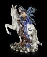 Elfen Figur - Noctiva die Nachtwächterin auf Einhorn