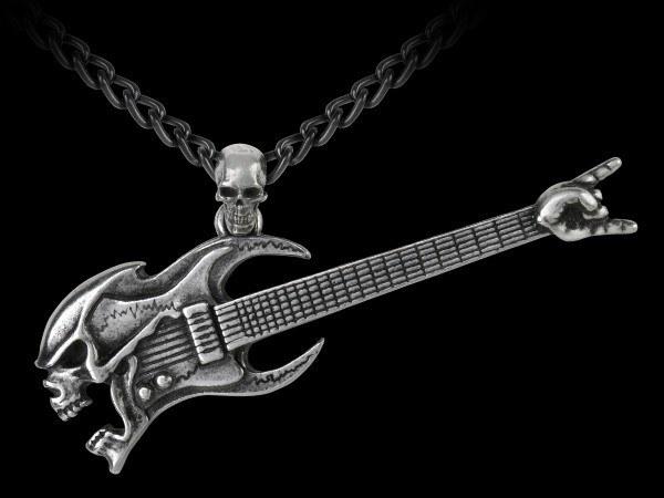 Alchemy Necklace - Skull Guitar - Shred Attack