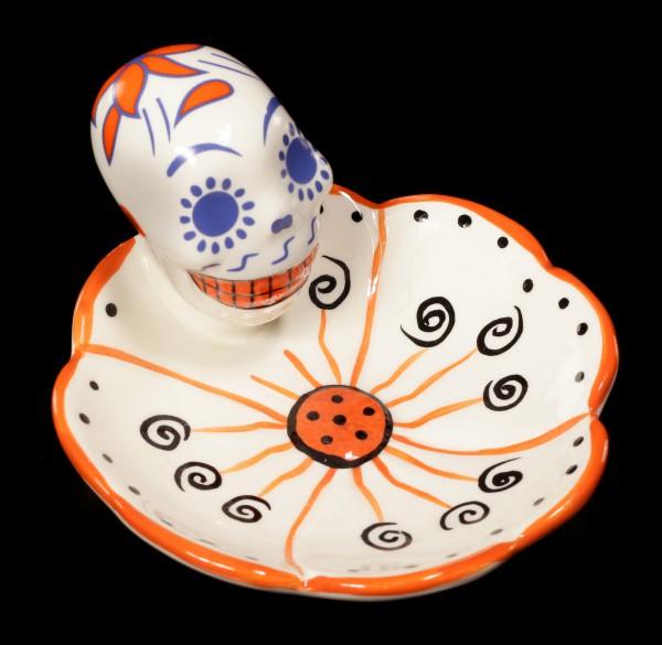 Skull Dish - Day of the Dead - orange
