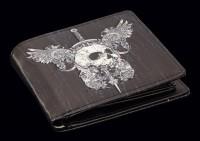 Herren Geldbörse - Skull & Wings