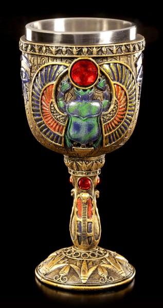 Ägyptischer Kelch - Skarabäus