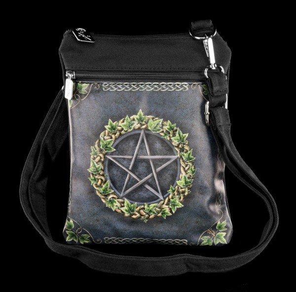 Kleine Schultertasche mit Efeu - Ivy Pentagramm