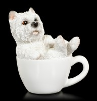 Dog in Cup mini - West Highland Terrier Puppy