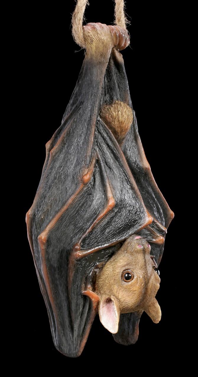 Garden Figurine - Flying Fox hanging on Rope