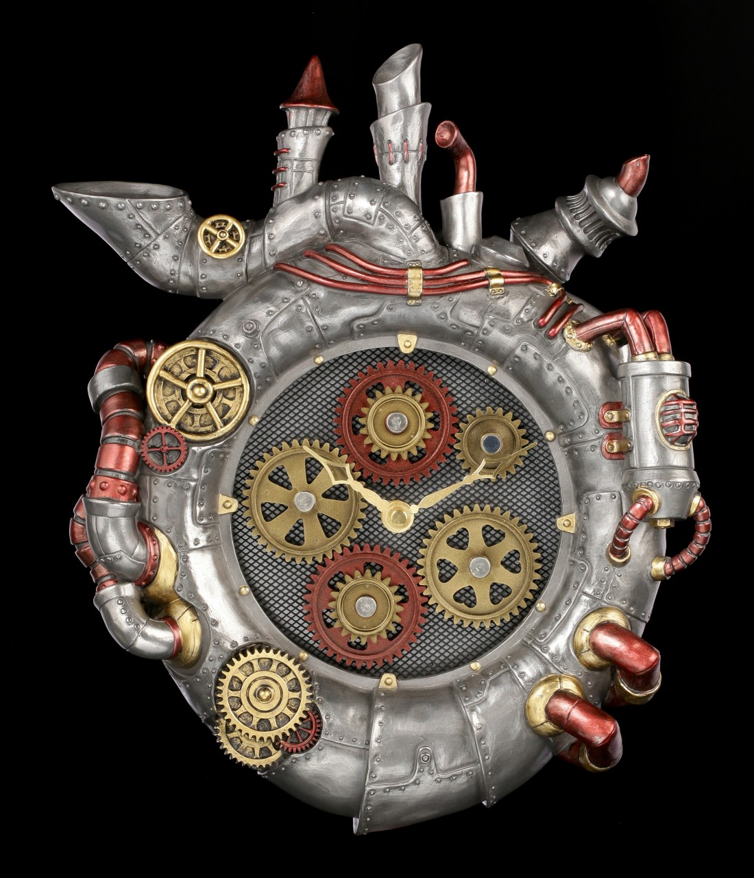 Steampunk Heart Wall Clock