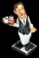 Funny Job Figurine - Waiter with Tablet