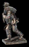 Feuerwehrmann Figur - mit Schaufel
