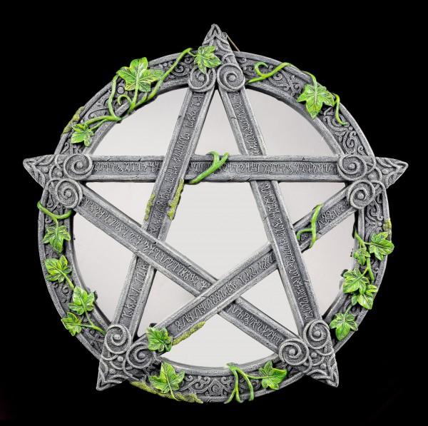 Wandspiegel - Wicca Pentagramm