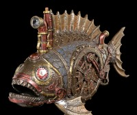 Steampunk Piranha Figur mit LED