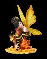 Elfen Figur - Mini Fee auf Sonnenblume