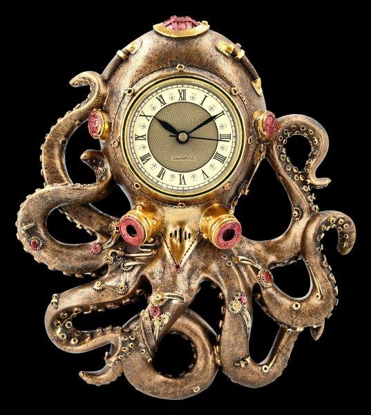 Steampunk Wall Clock - Octoclock