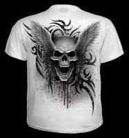 T-Shirt - Geflügelter Totenkopf weiß - Ascension