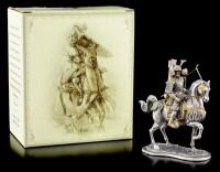 Japanischer Samurai mit Pferd und Bogen - Zinn Figur