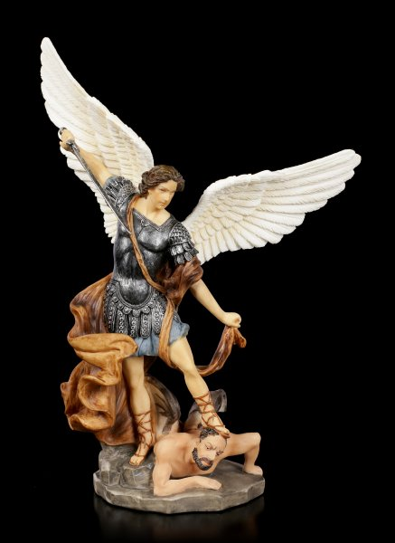 Small Archangel Michael Figurine - colored