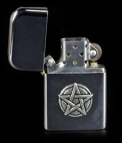 Benzin Feuerzeug mit Pentagram