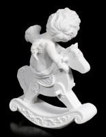 White Cherub Figurine on Hobbyhorse
