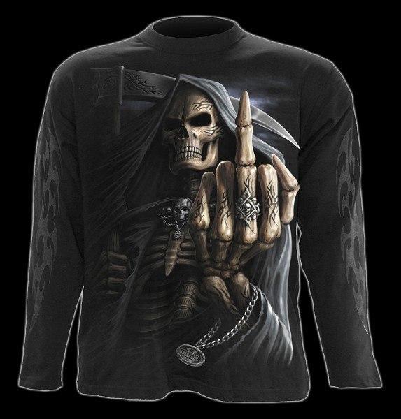 Langarmshirt - Reaper Mittelfinger - Bone Finger
