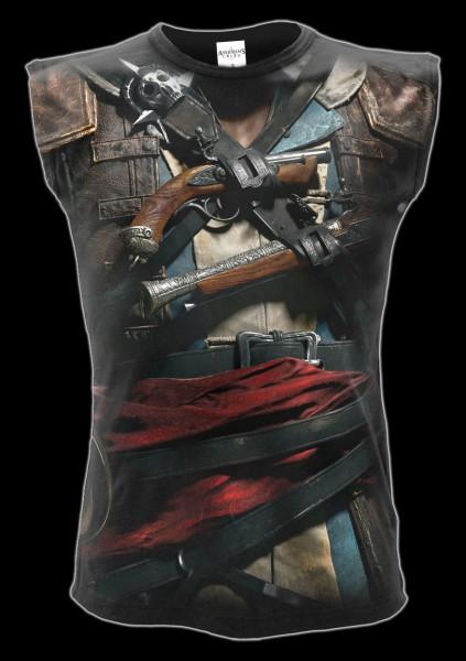 Assassins Creed Shirt ärmellos - Black Flag