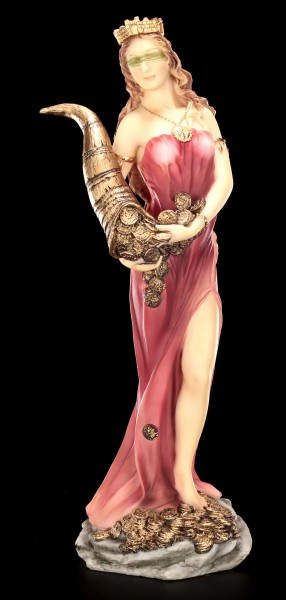 Fortuna Figur - Göttin des Glücks - bunt