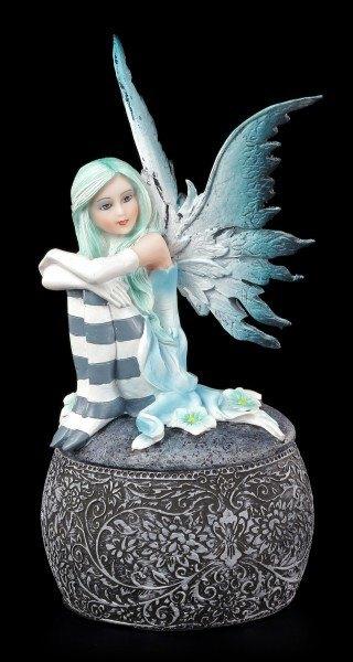 Elfen Figur auf Kugel Schatulle - Clarysse's Beobachtung