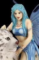Fairy Figurine - Hima with Snow Leopard