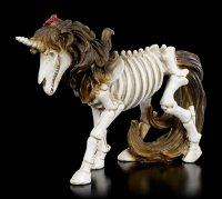 Skeleton Figurine - Unicorn with Roses in Mane