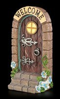 Door Sign - Wood Gate with straight Stair