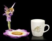 Fairy Figurine with Mug - Purple Fairy Linda