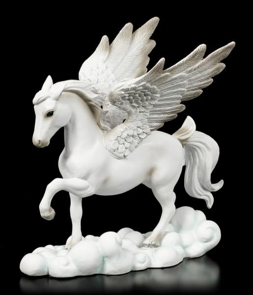 Weiße Pegasus Figur auf Wolken