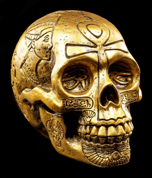 Egyptian Skull - gold colored