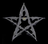 Wandrelief - Fledermaus Pentagramm - Dark Colony