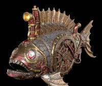 Steampunk Piranha Figur mit LED