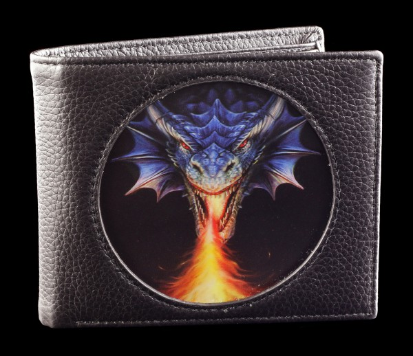 3D Wallet Black - Fire Breather by Anne Stokes