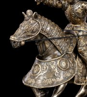 Knight Figurine on Horse with raised Sword