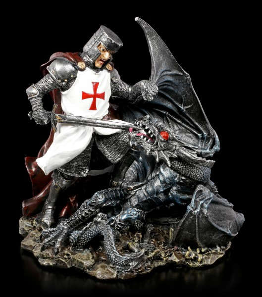 Crusader Knight Figurine - Death of a Dragon