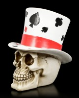 Totenkopf mit Zylinder - Casino Jack