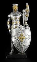 Kleine Ritter Figur mit Hellebarde und Schild