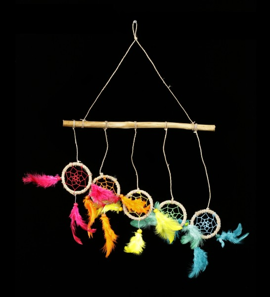 Colorfull Dreamcatcher on Wood