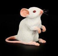 Weisse Maus Figur - sitzend