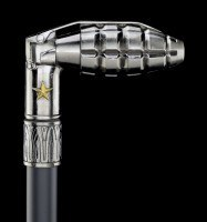 Swaggering Cane - Hand Grenade - Metal