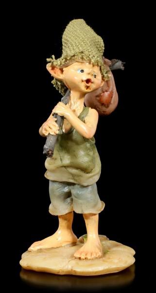Pixie Kobold Figur auf Wanderschaft