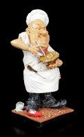 Funny Job Figurine - Chef stirs Sauce