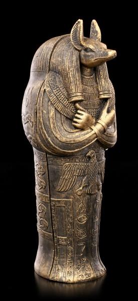 Anubis Sarcophagus with Mummy