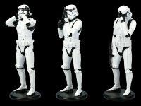 Three Wise Stormtrooper Figurines