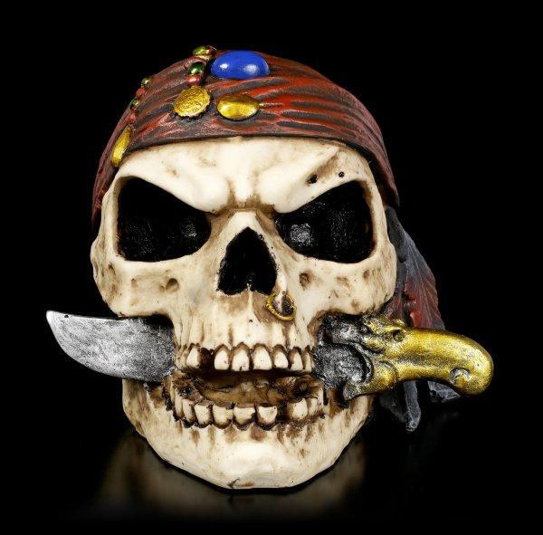 Totenkopf - Piratenschädel mit Dolch