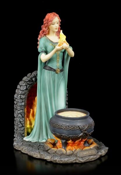 Celtic Goddess Brigid Figurine - colored