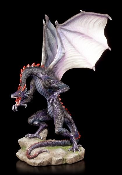 Vorschau: Blaue Drachen Figur - Brüllend
